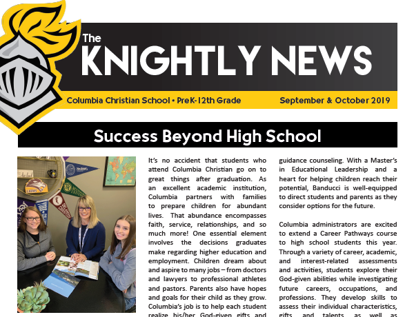 News & Announcements - Columbia Christian School